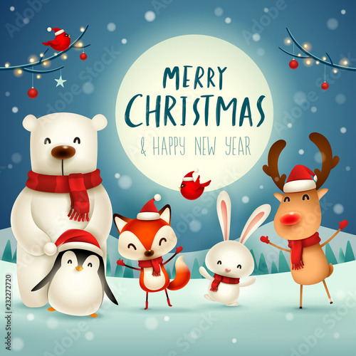Merry Christmas And Happy New Year Christmas Cute