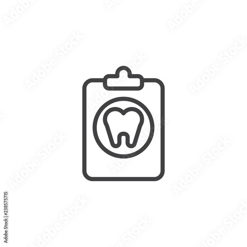 dental tooth document outline