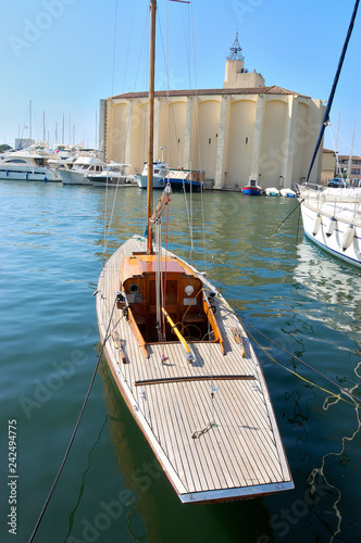 old wooden sailing boat