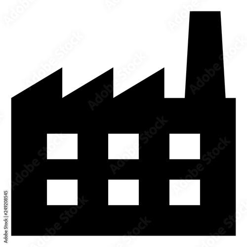 industry factory vector icon