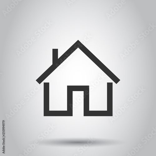 House Building Icon In Flat Style Home Apartment Vector Ilration On White Background Dwelling Business Concept