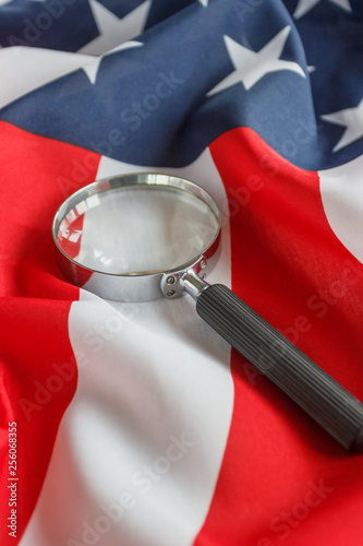 magnifying glass on the
