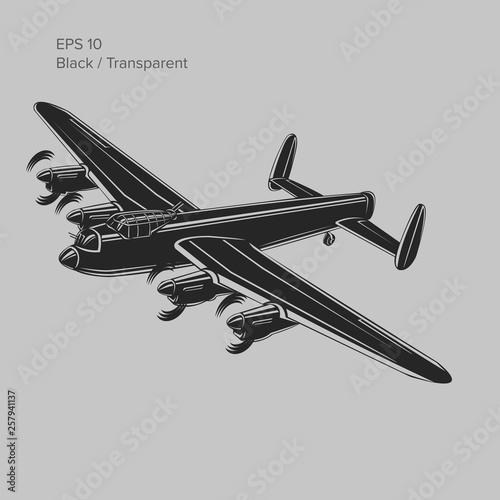 vintage bomber vector illustartion