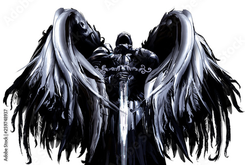 mystical angel in hood