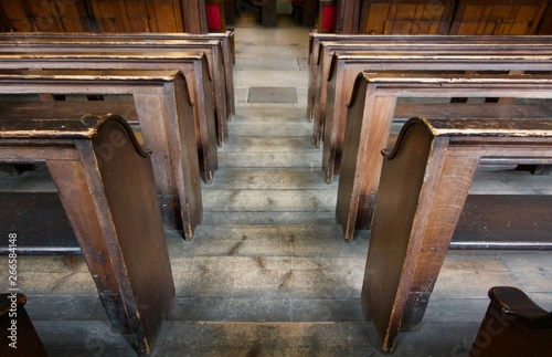 old wooden tiered church