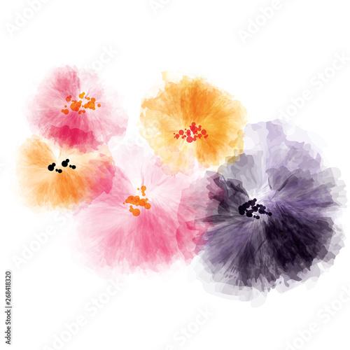 abstract watercolor flowers nursery