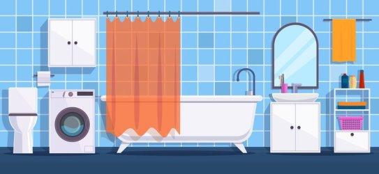 Bathroom Cartoon photos royalty free images graphics vectors & videos Adobe Stock