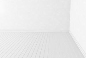 corner empty blank wood interior rendering walls contemporary floor simple mural