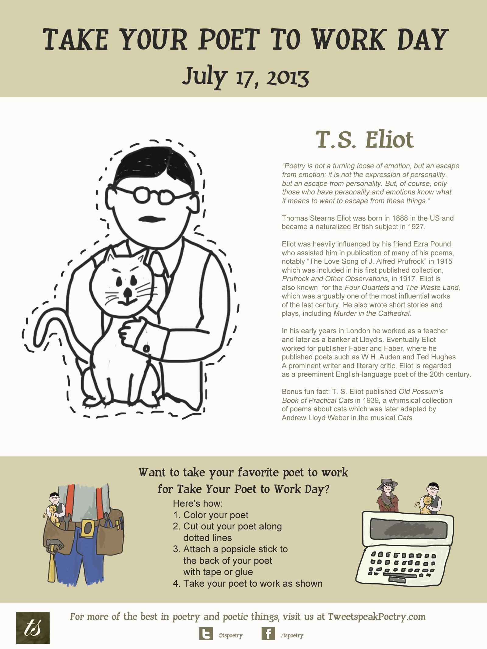 Funny Poems About Work : funny, poems, about, Work:, Eliot, Tweetspeak, Poetry