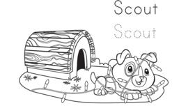 Scout & Friends winter coloring pack