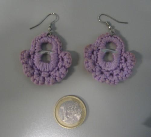 orecchini, cotone, crochet, barbara fiorentini, riciclo creativo