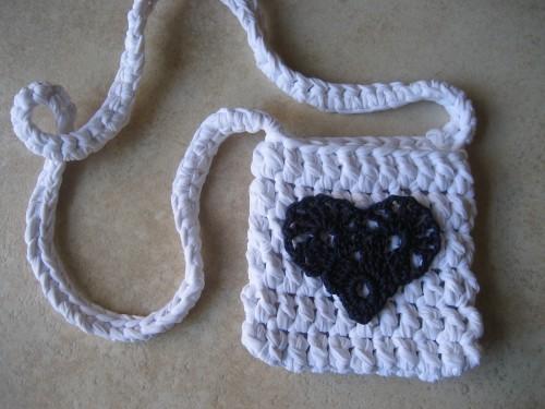 borsa, crochet, cotone