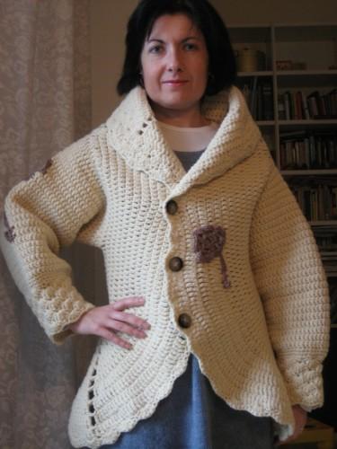 cappotto, lana, Aquilana, crochet, barbara fiorentini