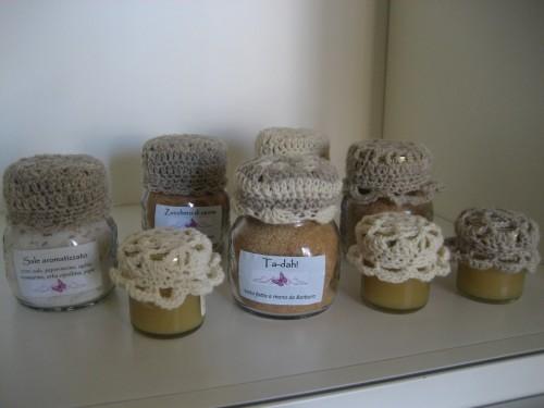 copribarattolo, lana, uncinetto