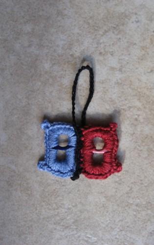 portachiavi, cotone, linguette, farfalla, crochet, Barbara Fiorentini