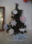 albero di natale, decorazioni, uncinetto, cotone