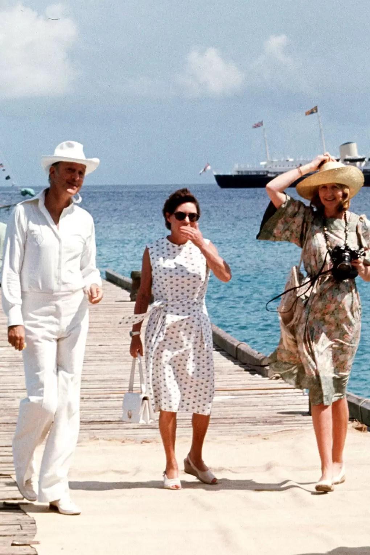La princesa Margarita llegando a la isla de Mustique.