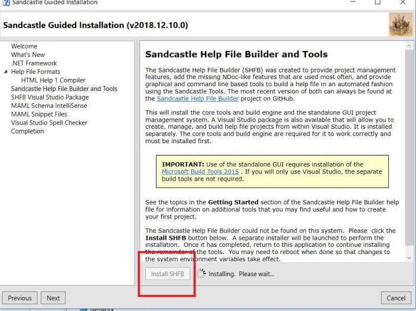 Documentation using Sandcastle Help File Builder | TAAGUNG
