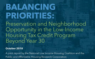 Preservation and Neighborhood Opportunity in the Low-Income Housing Tax Credit Program Beyond Year 30
