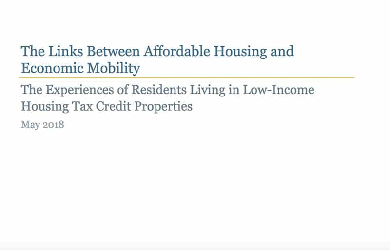 Link between Affordable Housing and Economic Mobility