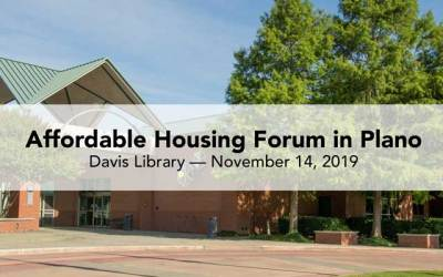 Affordable Housing forum in Plano Thursday