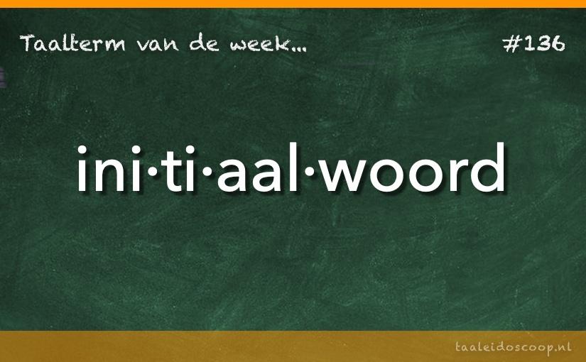 TVDW: Initiaalwoord