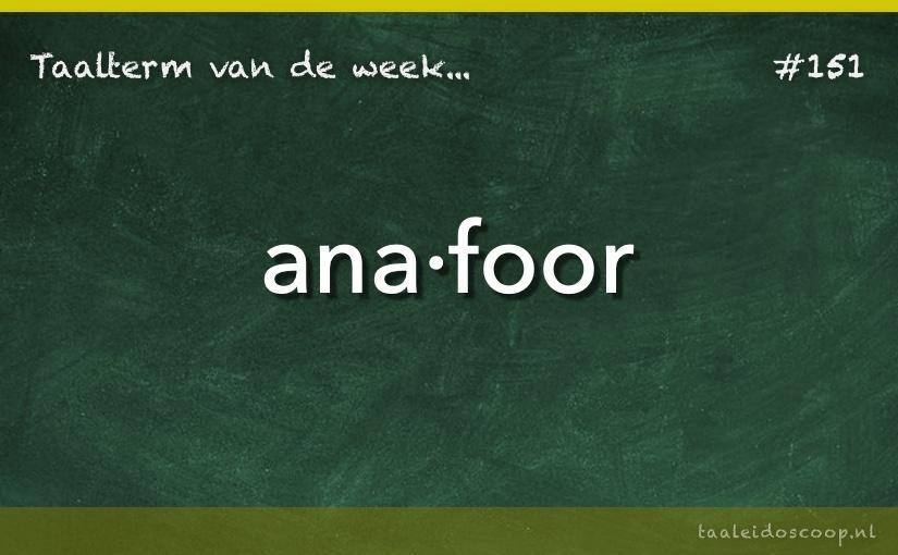TVDW: Anafoor