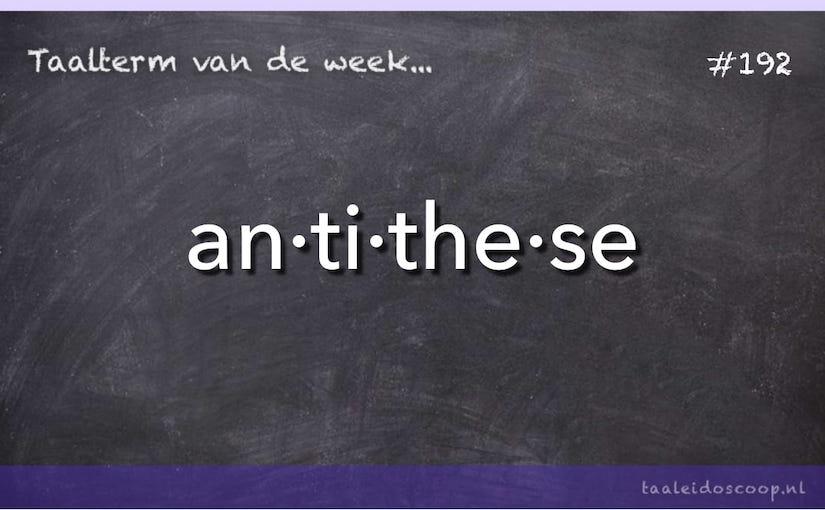 Taalterm: Antithese