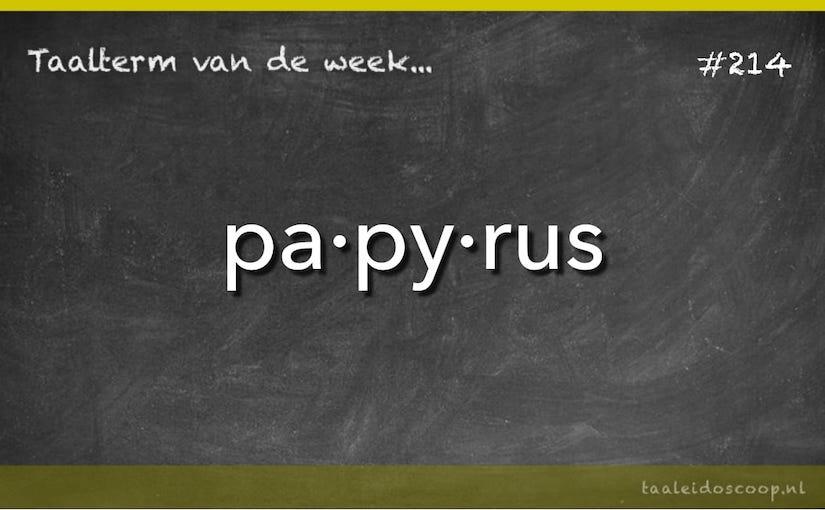 Taalterm van de week: Papyrus