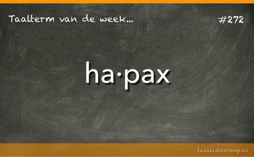 Taalterm: Hapax