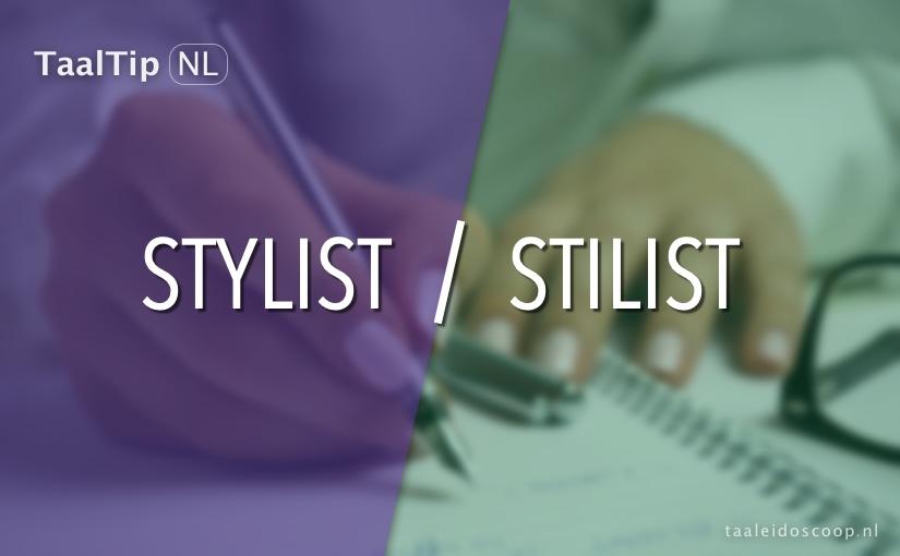 Stylist vs. stilist