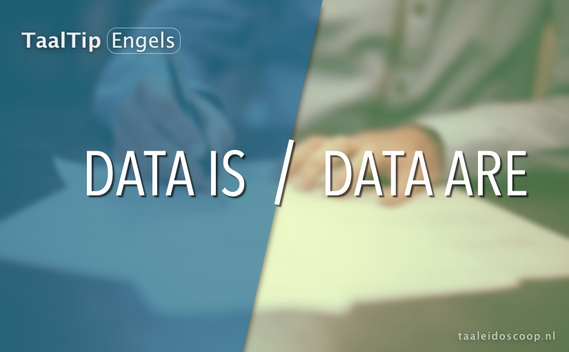 Data is vs. data are