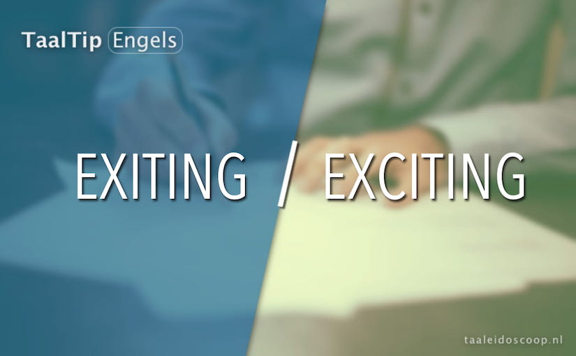 Exiting vs. exciting