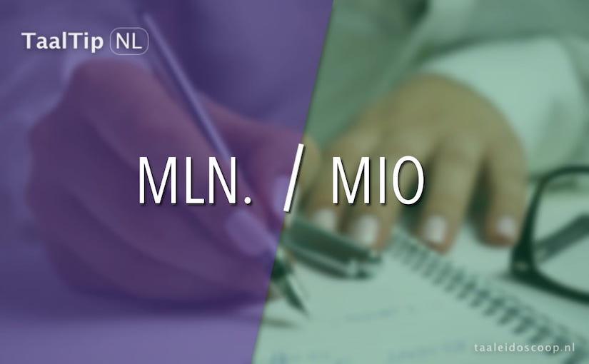 Mln. vs.mio
