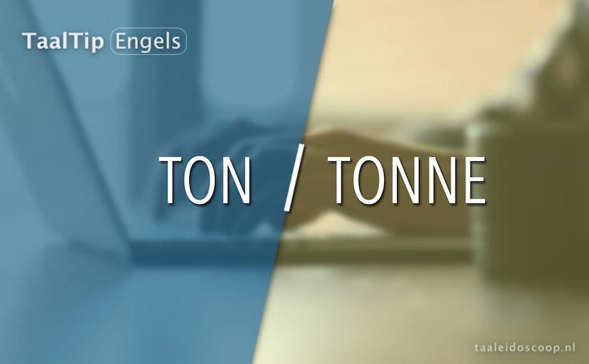 Ton vs. tonne
