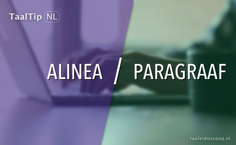 Alinea vs. paragraaf