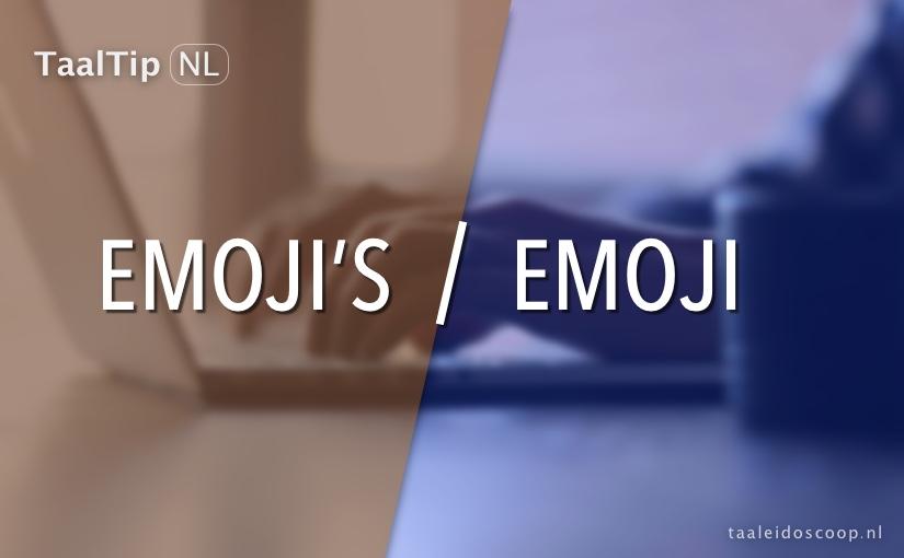 Emoji vs. emoji's
