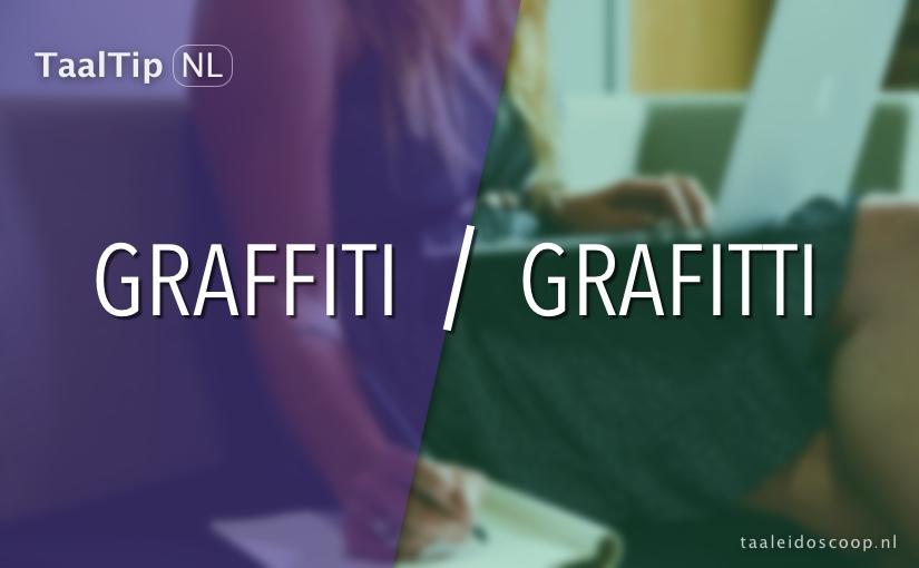 Graffiti vs. grafitti