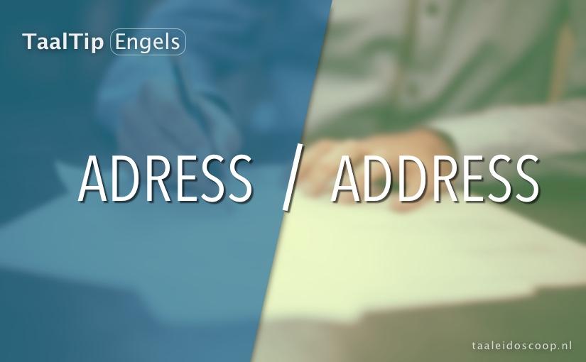 Adress vs. address