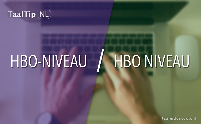 Hbo-niveau vs. hbo niveau