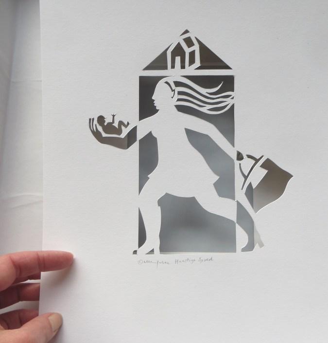 Heilig huisje, papercut