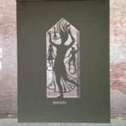 papercut Heilig huisje, 75 x 100 cm