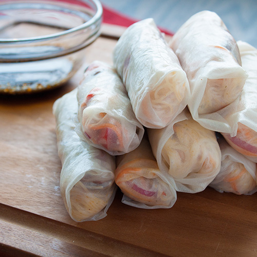 maple bacon rice paper rolls w grilled duck breast_500x500
