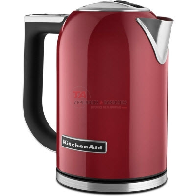 Kitchenaid® variable temperature electric kettle with a 1.7 L capacity. Built for speed, it quietly boils water in minutes. The variable temperature control allows you to select the exact temperature you desire to help you achieve optimal results. The 30 minute hold temp function maintains the temperature while on the base.
