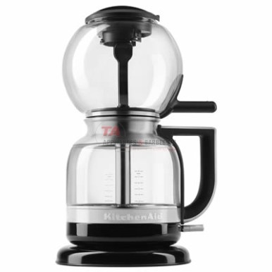 The KitchenAid® siphon coffee brewer brings together the incredible flavors of siphon coffee brewing with easy, safe operation and no open flame. With the simple flip of a switch, the Siphon Coffee Brewer automatically brews exceptionally clean and bright tasting coffee with no need for guesswork or adjustment. Simply fill the carafe with your desired amount of water, add your favorite ground coffee into the brew unit, and let the Siphon Coffee Brewer do all the work! With an exciting brewing technique that you can watch, you and your guests will love the brewing process as much as the coffee's exceptional flavor.