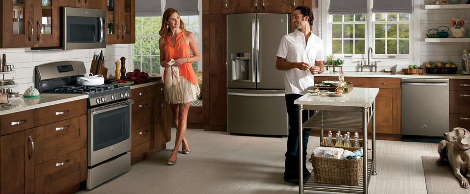 ge slate appliances beautifully