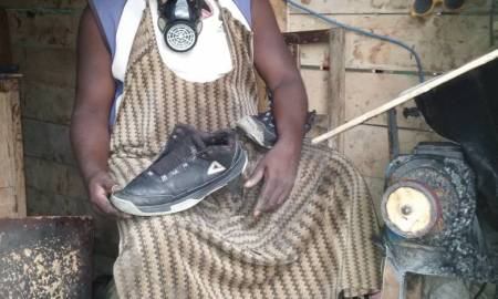 Peasant Who Abandoned Farming To Venture Into Shoe Repairing In The City