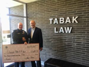 Tabak law supporting the community!