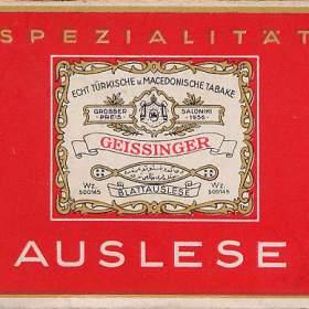 Auslese Zigaretten aus dem Jahr 1938