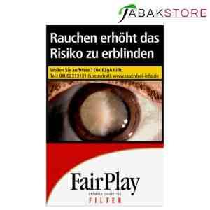 Fair Play Billig Zigaretten, gleicher Hersteller wie Lucky Strike und Pall Mall (1x Zigarette = 27,5 Cent)